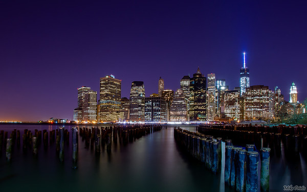 Took a trip down to Brooklyn Bridge Park last night to reshoot this gorgeous view now that One World Trade Center is complete. Couldn't ask for a more beautiful night.  Photo info:  Single exposure RAW file. 2 minute exposure