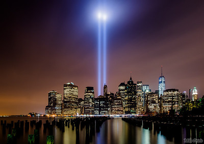 Forever in Our Hearts:  9/11 Tribute  September 11th Tribute in Light 2013.